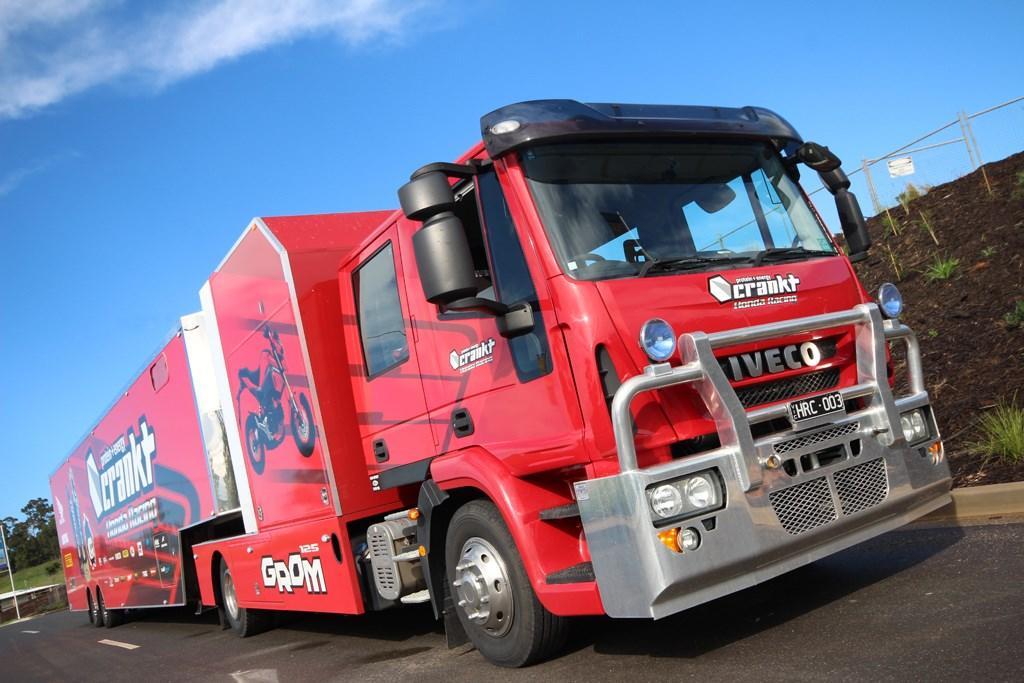Lifting Heavy Food Off Truck