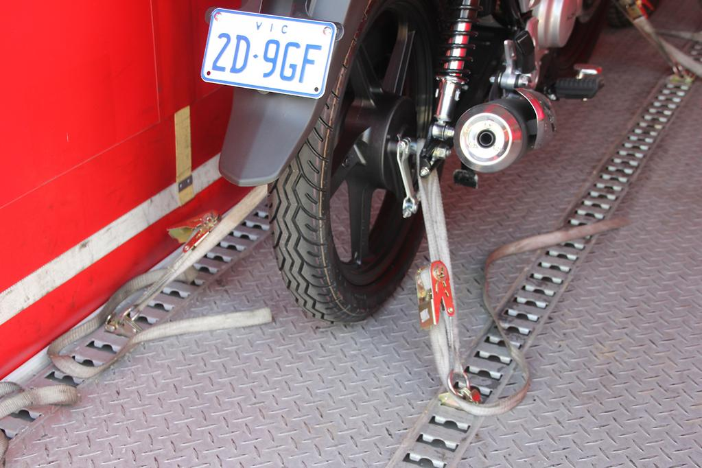 Advice: How to tie down your motorcycle - www bikesales com au