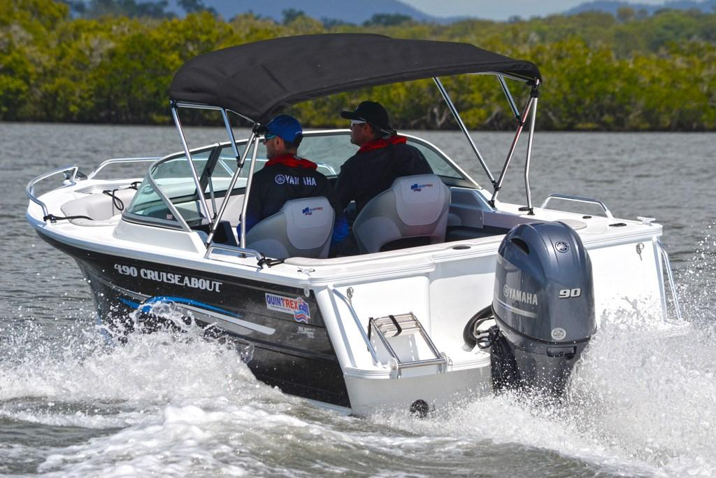 Quintrex 490 Cruiseabout and Yamaha F90: Review - www