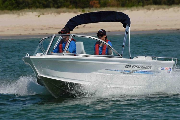 quintrex 430 fishabout www boatsales com au Boat Dual Battery Wiring Diagram prev next view photos