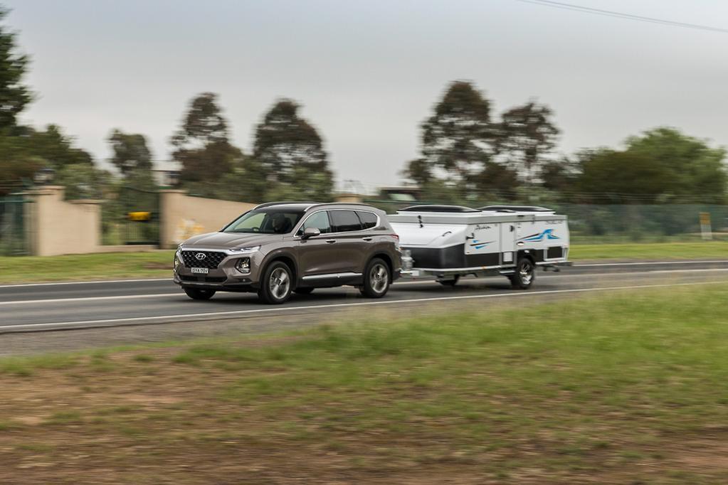 Santa Fe Tow >> Hyundai Santa Fe 2019 Tow Test Www Caravancampingsales Com Au