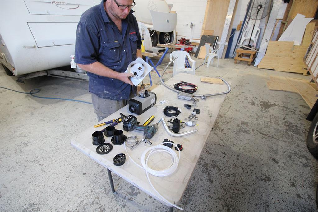 How to fit a diesel heater - www.caravancampingsales.com.au
