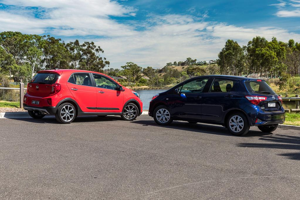 Kia Picanto v Toyota Yaris 2019 Comparison - www carsales com au