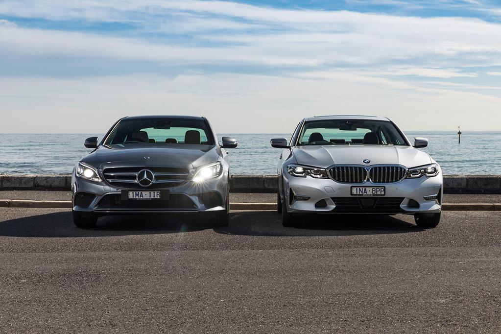 BMW 3 Series v Mercedes-Benz C-Class 2019 Comparison - www