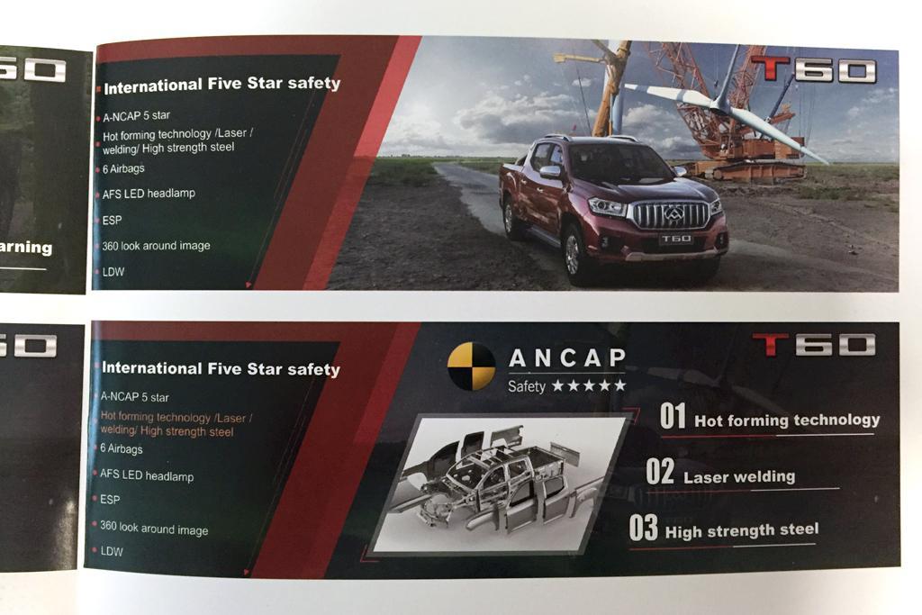 ac43abd438 LDV T60 safety claims