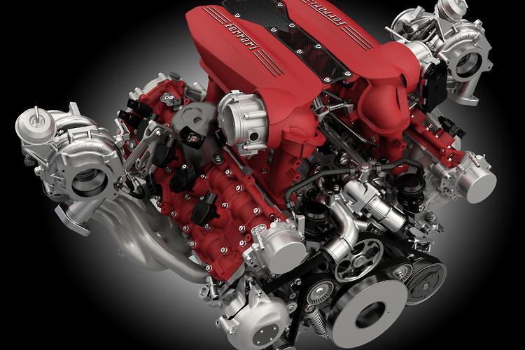 Ferrari 488 GTB\u0027s twin,turbo V8 wins engine of the year