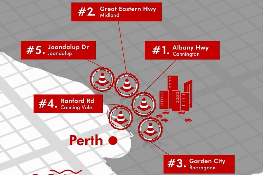Australia's worst road accident hotspots named for 2018