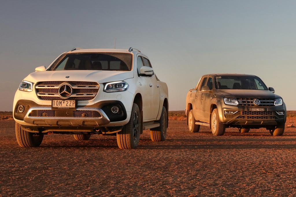 20e431c4903957 Mercedes-Benz X 350 d 4MATIC Power v Volkswagen Amarok V6 Ultimate 580 2019  Comparison