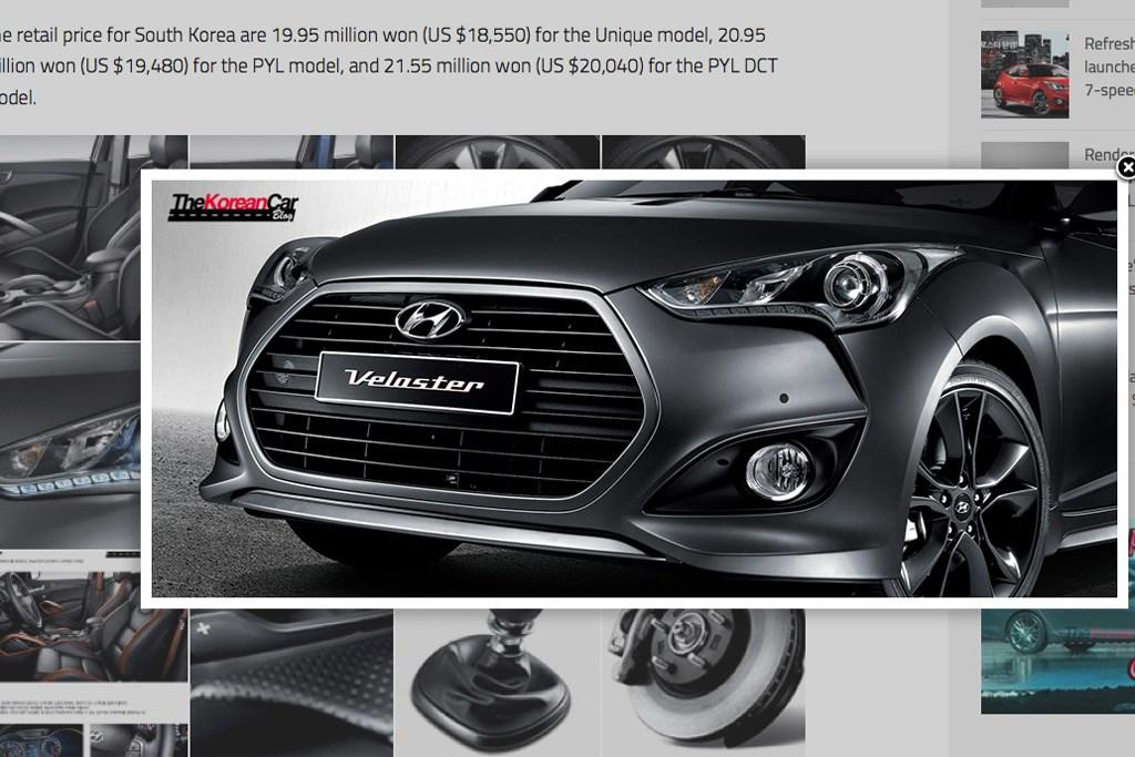 Veloster update gets dual-clutch transmission - www carsales
