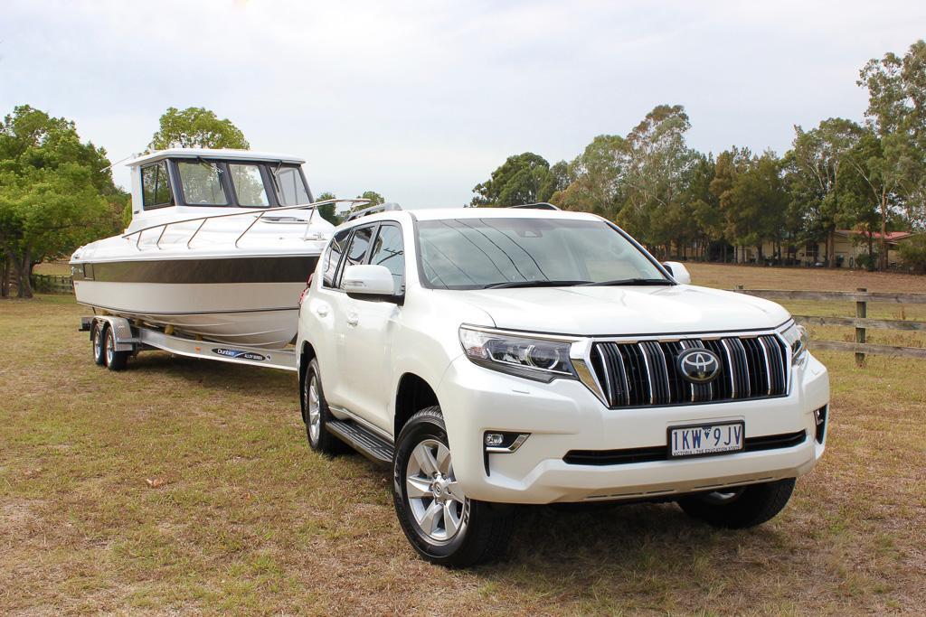 Toyota LandCruiser Prado 2018 Tow Test - www carsales com au