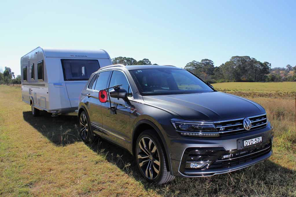 What Does Tiguan Mean >> Volkswagen Tiguan 2018 Tow Test Review Www Carsales Com Au